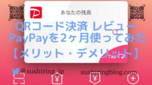 QRコード決済 レビュー PayPayを2ヶ月使ってみた【メリット・デメリット】
